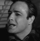 Marlon Brando as Terry Malloy in the 1954 blockbuster movie On the Waterfront - speaking the line
