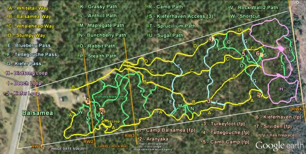 Trail Map 2012, prior to the 717 Storm
