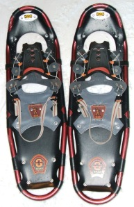 Ruby red snowshoes