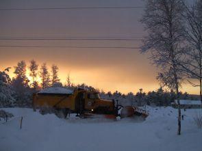 phss6-07-20070302 Snowplow in Sunset